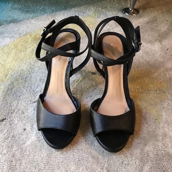 d67ddd378fa Gianni Bini Black Ankle Strap Heels